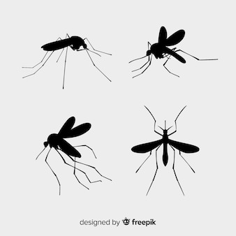Pack de siluetas de mosquitos