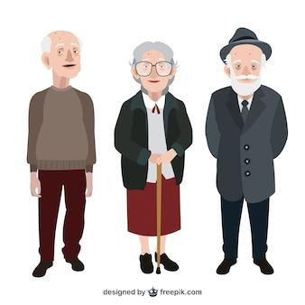 Pack de simpáticos abuelitos