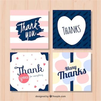Pack de tarjetas de agradecimiento