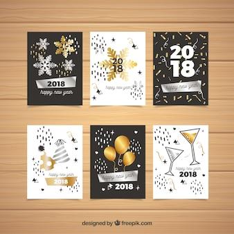 Pack de tarjetas de fiesta de año nuevo