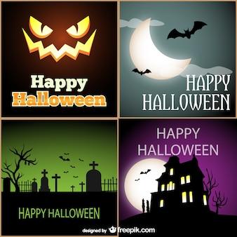 Pack de tarjetas de halloween