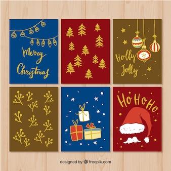 Pack de tarjetas de navidad
