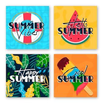 Pack de tarjetas de verano