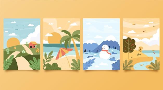 Pack temporadas dibujadas a mano