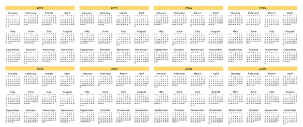 Pack de varios calendarios mínimos