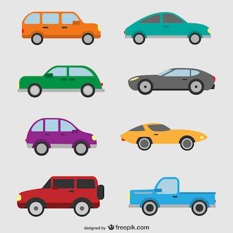 Pack de vectores de coches