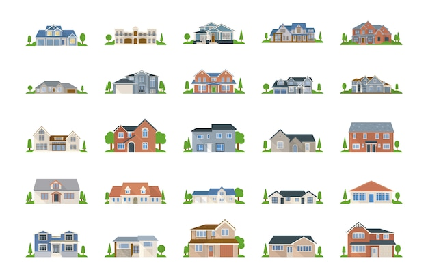 Pack de vectores inmobiliarios
