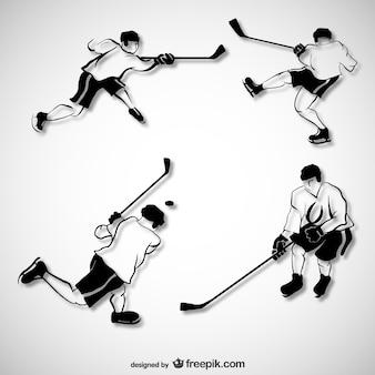 Pack de vectores de jugadores de hockey