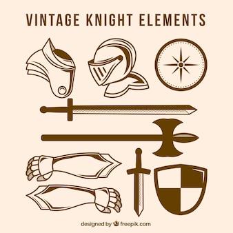 Pack vintage de elementos de caballero