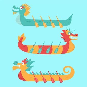 Pack de zongzi de barcos del dragón