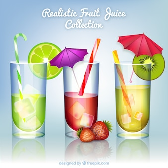 Pack de zumos de fruta realistas