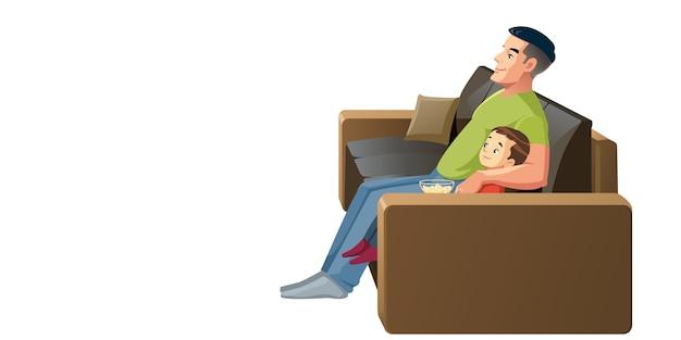 Padre e hijo divirtiéndose juntos