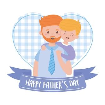 Padre con hijo el día del padre
