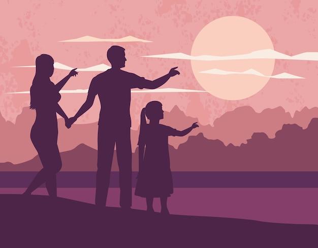 Padres con hija