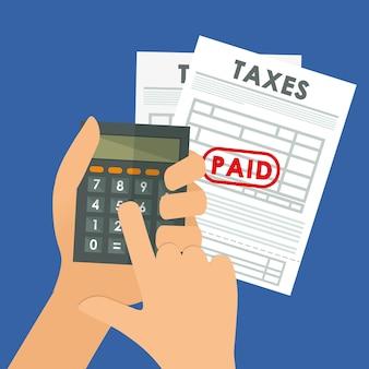 Pagar impuestos diseño gráfico tema