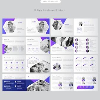 Page folleto paisaje