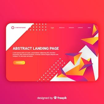 Página de aterrizaje abstracta