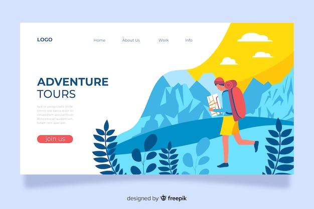 Página de aterrizaje de aventura