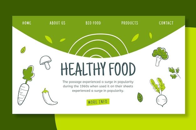 Página de aterrizaje bio y saludable