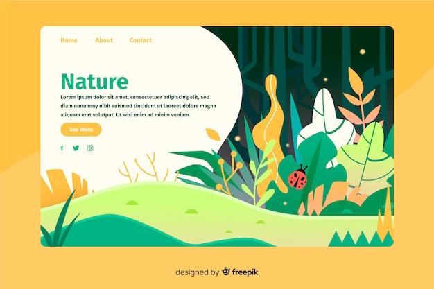 Página de aterrizaje con concepto de naturaleza