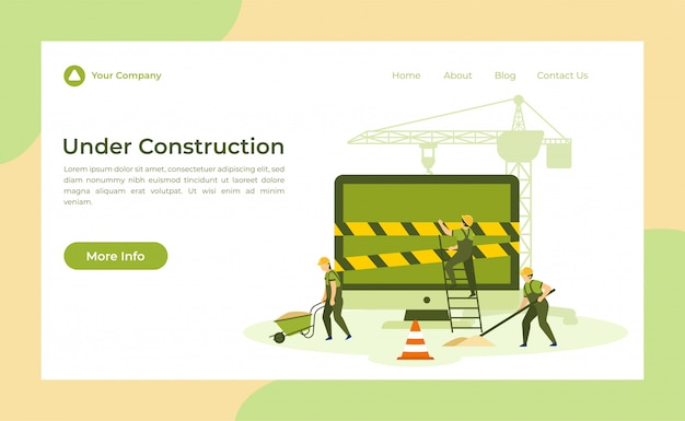 Página de aterrizaje en construcción