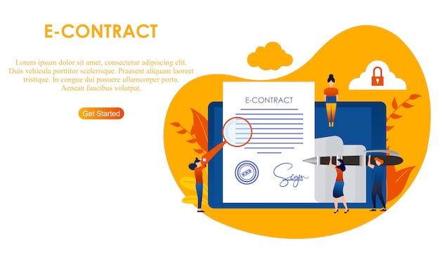 Página de aterrizaje contrato internet digital.