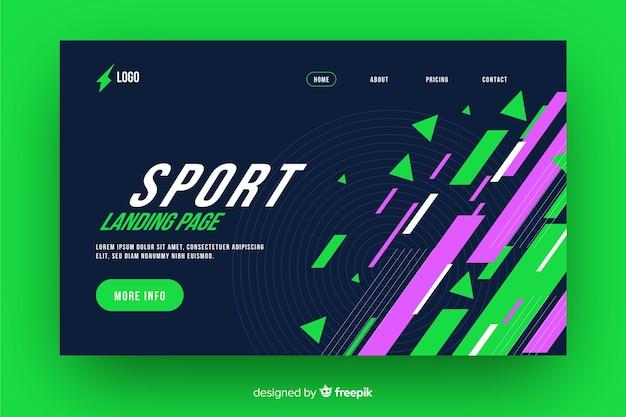 Página de aterrizaje deportiva geométrica