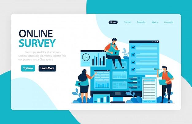 Página de aterrizaje de encuestas en línea
