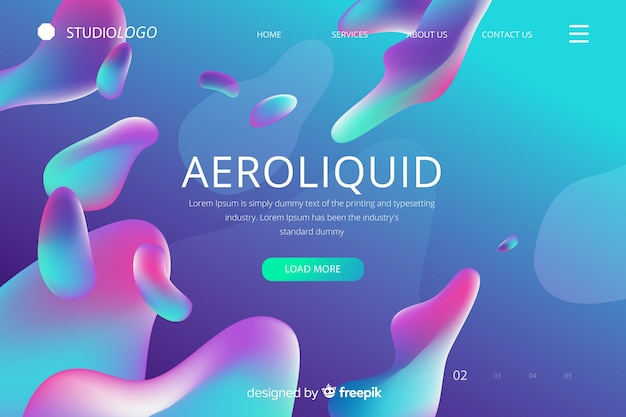 Página de aterrizaje del fluido aeroliquido