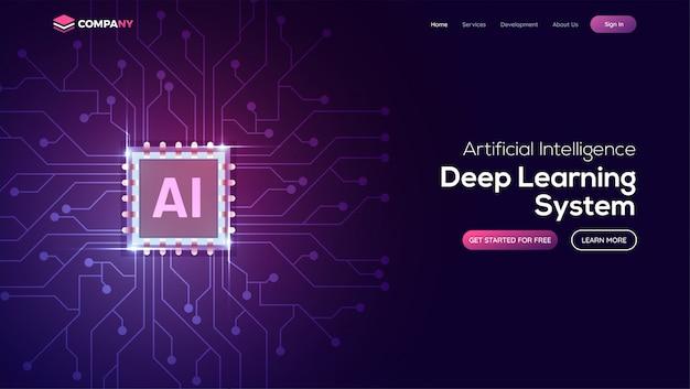 Página de aterrizaje de inteligencia artificial