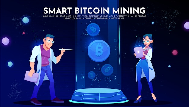 Página de aterrizaje inteligente de minería de bitcoin, científicos
