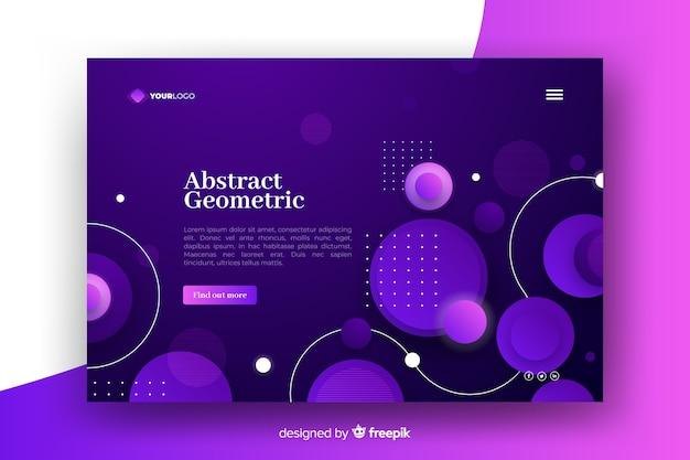 Página de aterrizaje de modelos geométricos degradados