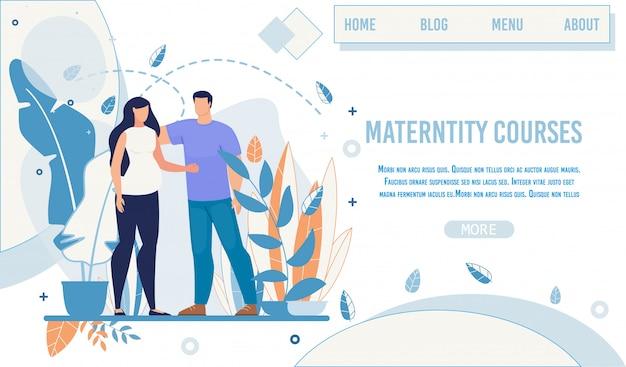 Página de aterrizaje oferta cursos y entrenamiento de maternidad