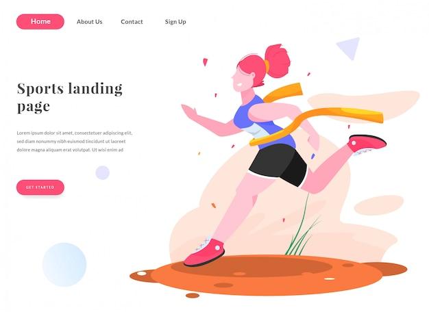 Página de aterrizaje web corriendo competencia