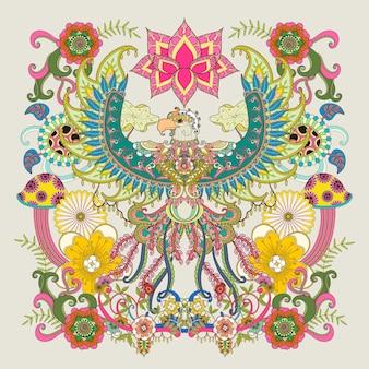 Página para colorear de adultos águila majestuosa