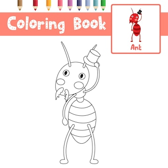 Página para colorear de ant