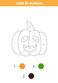 Página para colorear con dibujos animados de calabaza de halloween.