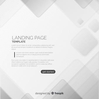 Página de destino abstracta geométrica