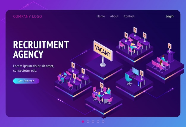 Página de destino para la agencia de contratación