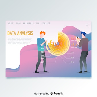 Página de destino de análisis de datos