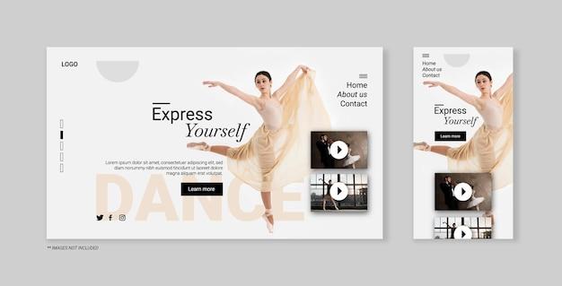 Página de destino para bailarina clásica