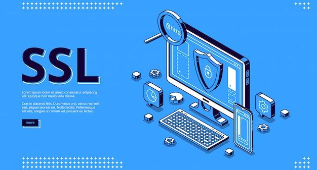 Página de destino del certificado ssl para el sitio web