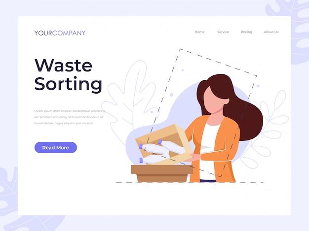 Página de destino de clasificación de residuos