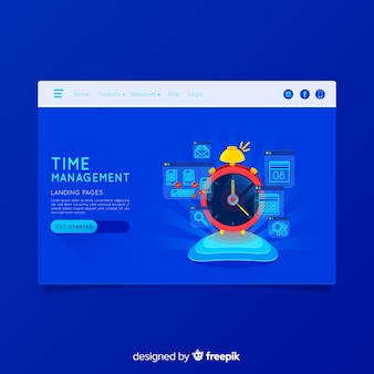 Página de destino colorido de negocios