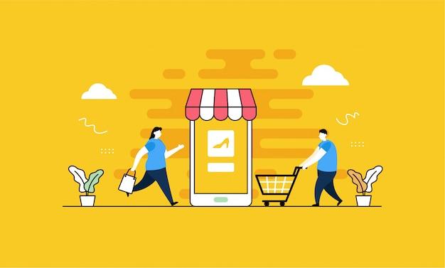 Página de destino de compras en línea