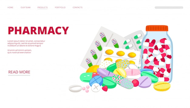 Página de destino de la farmacia