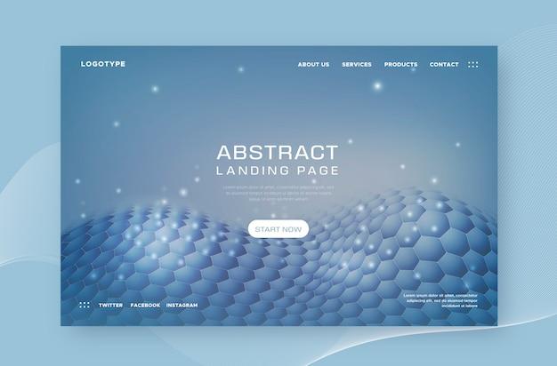 Página de destino con formas abstractas