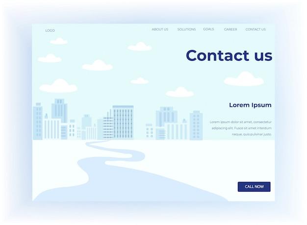La página de destino motiva a contactar con el centro de llamadas