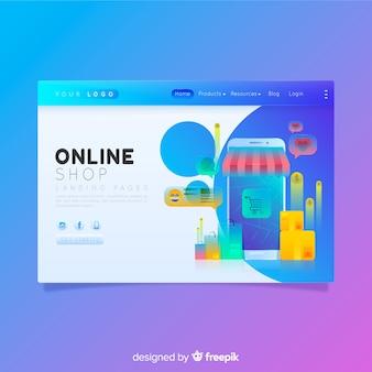 Página de destino de negocios coloridos