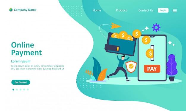 Página de destino de pago en línea
